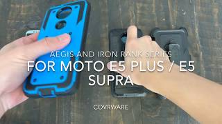 For Moto E5 Plus And E5 Supra COVRWARE Aegis & Iron Tank Holster Case Built-in Screen Protector
