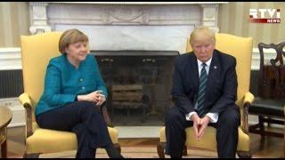 НАТО, беженцы и антироссийские санкции: Трамп и Меркель провели  переговоры