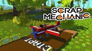 САМЫЙ КРУТОЙ САМОЛЁТ !!! Scrap Mechanic