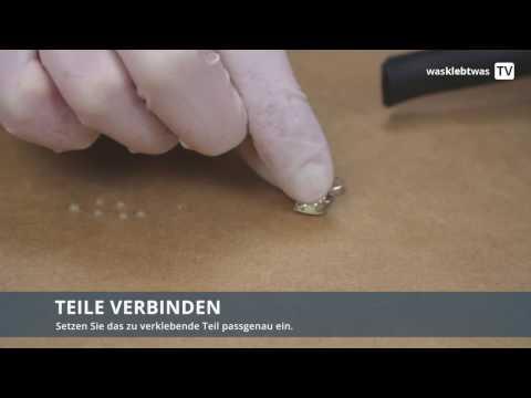 Schmuck kleben - punktgenauer Klebstoffauftrag mit Einwegspritze