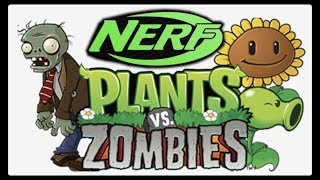 Nerf Plants vs Zombies in Real Life