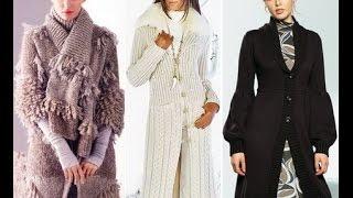 Модное Пальто Спицами 2017 /Fashionable coat spokes /Modische Mantel Speichen /Raggi cappotto moda