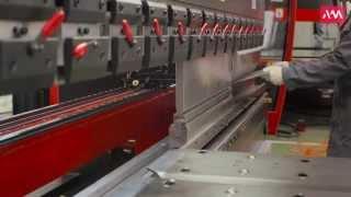 Изготовление профиля дверной коробки на листогибе AMB-10031T