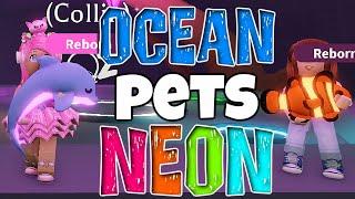 Unser ERSTEN OCEAN PETS 🐬🦀🐟 NEON 🌈 machen ✅ Roblox Adopt Me! [DEUTSCH]