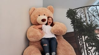 GIANT LIFE SIZE TEDDY BEAR SLIDE!!! (DON'T TRY THIS AT HOME)