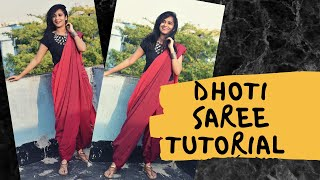 How to drape a handloom saree in dhoti style | Saree draping tutorial | THE BROWN GIRL