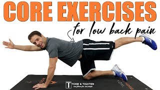 Back Exercises For Back Pain At Home