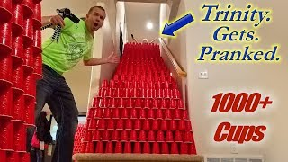 EPIC Solo Cup Prank on Trinity!! 10,000 Cups *So Funny!*