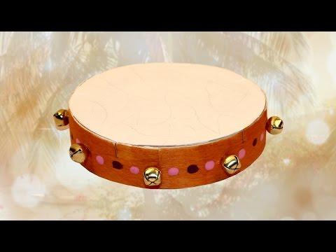 Fabriquer un tambourin avec une boîte à fromage