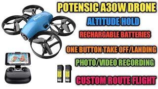 Potensic a30w drone review | potensic a30w wifi fpv drone | potensic a30w micro fpv drohne