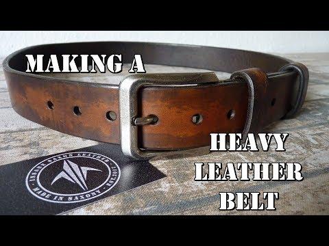 Making a heavy Leather Belt | Herstellung eines schweren Ledergürtels | ISL