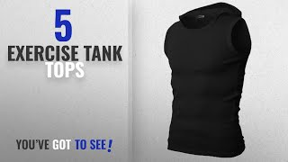 Top 10 Exercise Tank Tops [Winter 2018 ]: H2H Mens Slim Fit Cotton Hooded Sleeveless T-shirts With