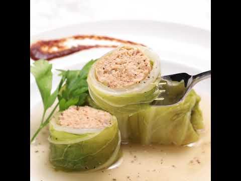 肉タネにOSMIC dip pureを練りこんだロール白菜☆「トマトロール白菜」