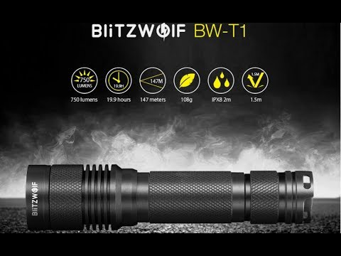 BlitzWolf® BW-T1 XP-G3 S4 750Lumens Portable Tactical LED Flashlight Analisis.