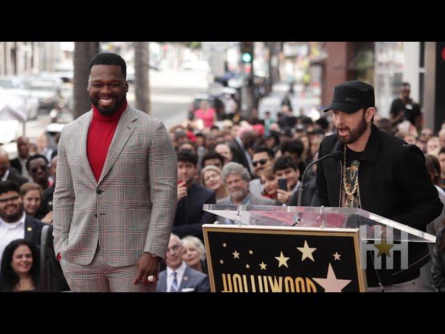 Eminem Praises 50 Cent's Hustle At Hollywood Walk Of Fame Honor