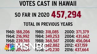 Hawaii Breaks Voting Record With Early Votes Alone; Texas Next? | Rachel Maddow | MSNBC