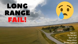 11 km Long Range Fail | DJI FPV | 7 inch Drone
