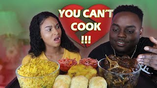BEAST MODE TOLD ME I CANT COOK PRANK TO SEE HOW I WOULD REACT + PIKLIZ & OXTAIL MUKBANG| QUEEN BEAST