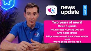 Drone News: Mavic 3 Update, FAA MOC search, Anti-noise Drone, I40 bridge inspection, Upcoming event