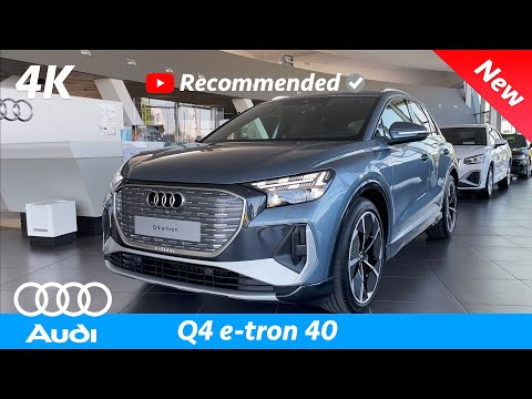 Audi Q4 e-tron 40 2021 - FIRST Look in 4K | Exterior - Interior (S-Line) Visual Review, Price