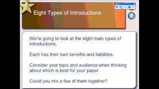 In The Beginning: Effective Essay Introductions