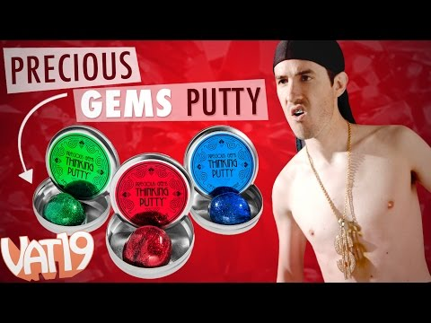 Thinking Putty that Shimmers like Jewels