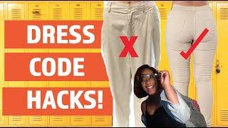 DRESS CODE HACKS FOR BACK TO SCHOOL!! HOW TO BREAK THE DRESS CODE  2017!