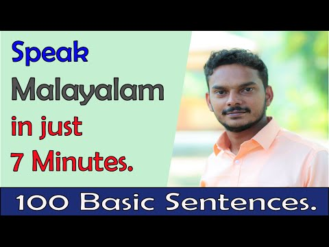 How to Speak Malayalam in just 7 minutes. Summary of my previous video