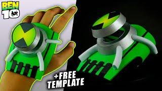 How To Make BEN 10 Omniverse Ultimatrix Omnitrix +FREE TEMPLATE | Easy DIY Alien Watch for Cosplay