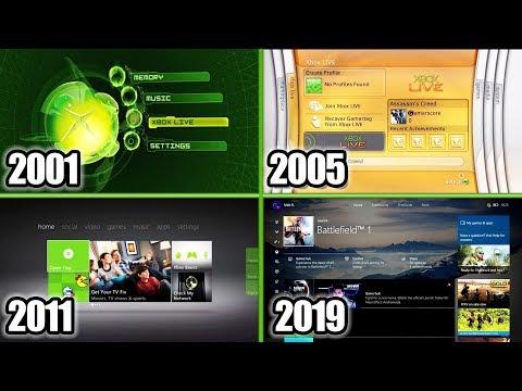 Xbox Dashboard Evolution 2001-2019 (Xbox Original, Xbox 360, One)