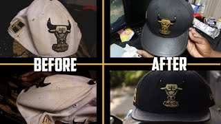 new product c290c db1b7 Turning This Old Destroyed Chicago Bulls Strapback Into Wearable Custom Hat!