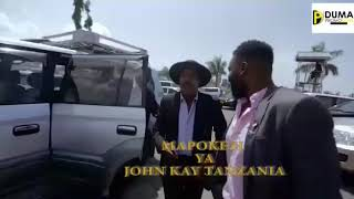 This is how John kay was welcomed in Tanzania at airport