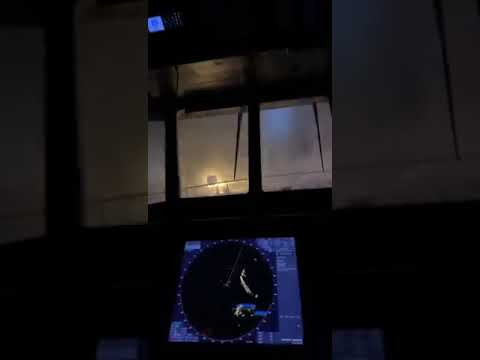 There's a storm going over Iceland, this is footage from the patrol ship Þór, of the Icelandic Coast Guard.