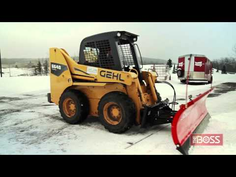 The BOSS Skid Steer Plow in Action