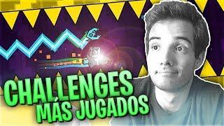 COMPLETANDO LOS RETOS MÁS FAMOSOS!! (Geometry Dash Challenges)