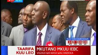 Willian Ruto asema wamekubaliana na IEBC kuahirisha mkutano ule