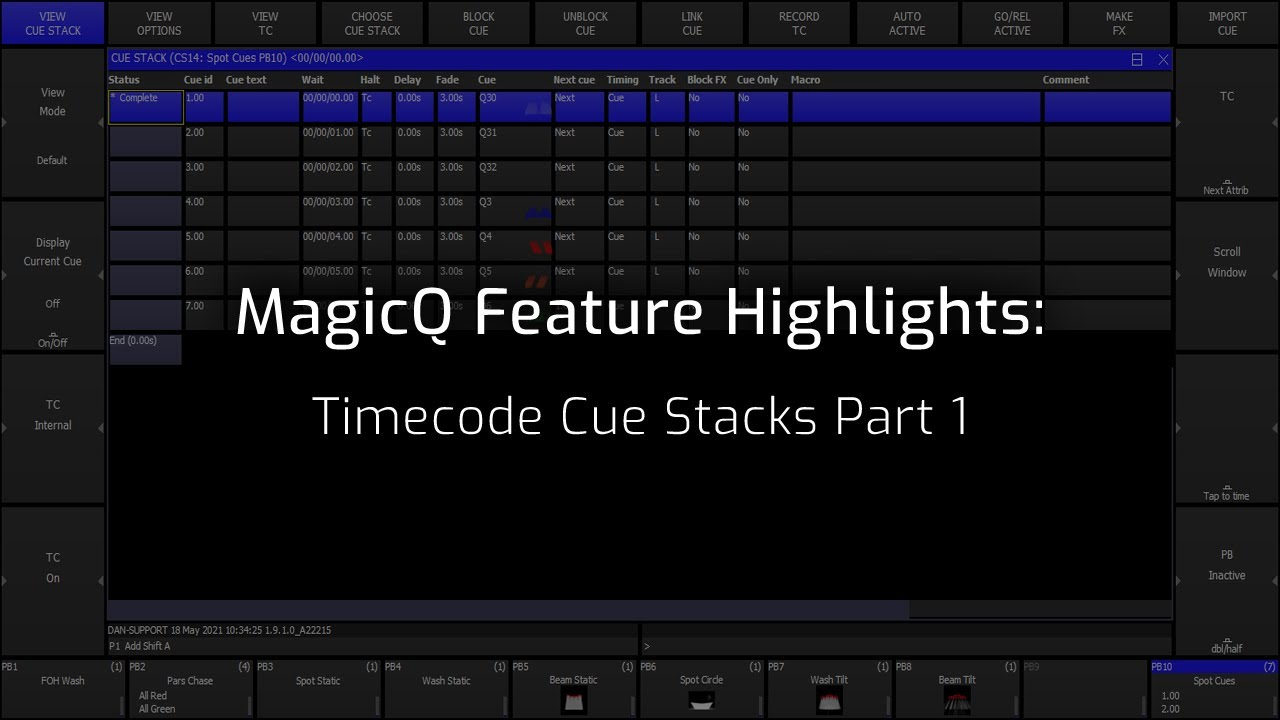 Timecode Cue Stacks Part 1