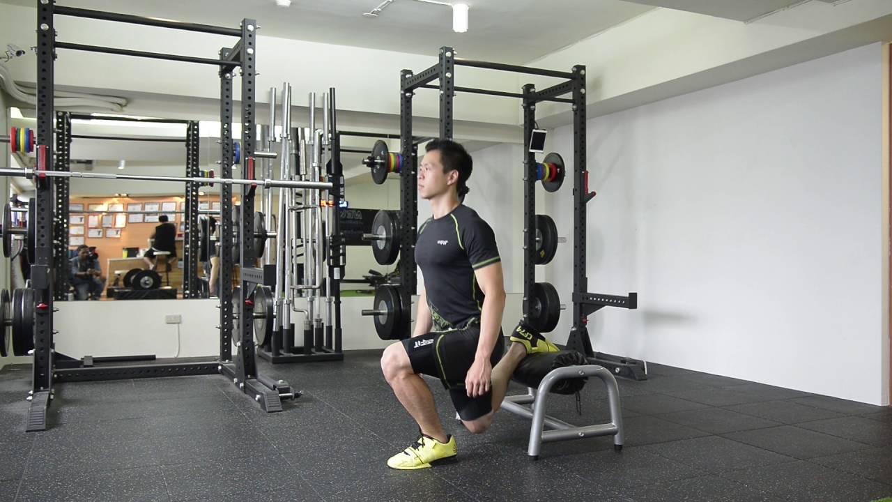 跑者肌力訓練:後腳抬高蹲(保加利亞深蹲)