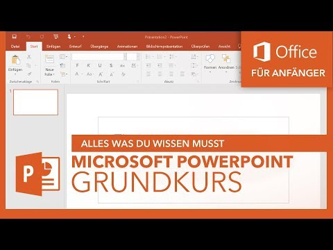 Microsoft PowerPoint (Grundkurs) Für Anfänger   Microsoft Office Tutorial Serie