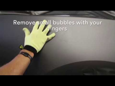 Removing bubbles while installing 3M™ Wrap Film Series 1080