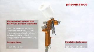 Pistolet Lakierniczy DeVilbiss SRi Pro Lite Z Górnym Zbiornikiem MC1-06 Sri