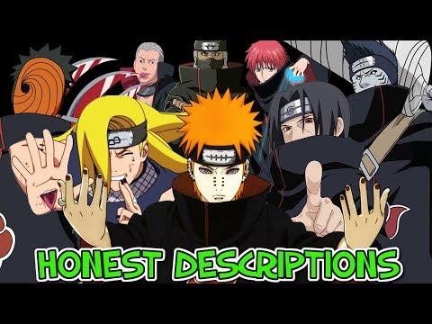 Every Naruto Akatsuki Member - Honest Anime Descriptions
