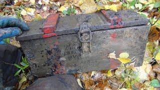 Тяжелый ящик ! Раскопки Второй мировой, металлоискатель и металлопоиск