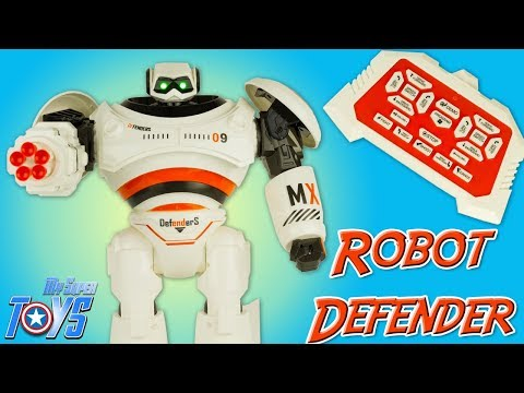 Intelligent Programmable Robot Defender Missile Shooting Remote Controlled Toy Unboxing Review