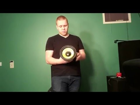 Kevlar woofer 8'' Unboxing + Test excursion!
