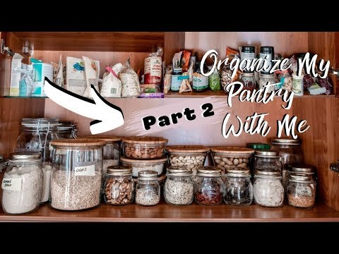 ORGANIZE MY PANTRY WITH ME (part 2) | ATTEMPTING PINTEREST GOALS