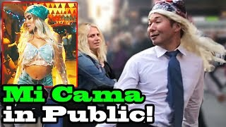 Mi Cama - Karol G - Singing In Public!!