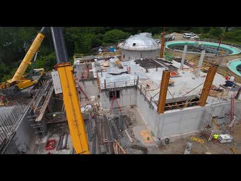 June 2018 Aerial Progress Video Peirce Island WWTF Project