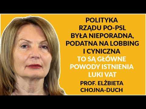 Prof. Chojna-Duch: Rozwiązania PO-PSL były przyjazne dla międzynarodowych grup przestępczych