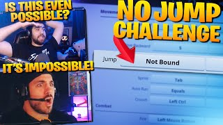 Can We Win Without JUMPING?!   Fortnite Challenge Ft. Nickmercs (Fortnite Battle Royale)